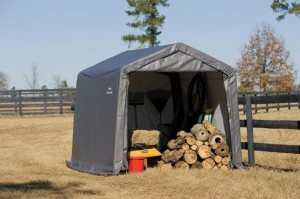 Steel Storage Sheds and Firewood Racks