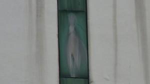 Virgin Mary on Window
