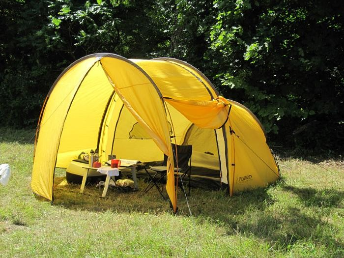 Portable Garage & New Tent Design allows you and your Motorcycle to be protected ...