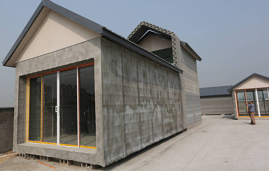 Chinese Company Creates 3D Printed Buildings