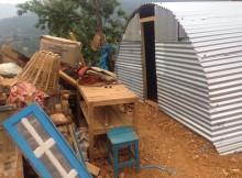 Nepal earthquake shelters