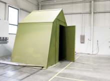 foldable military shelter