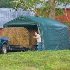portable garage hay storage