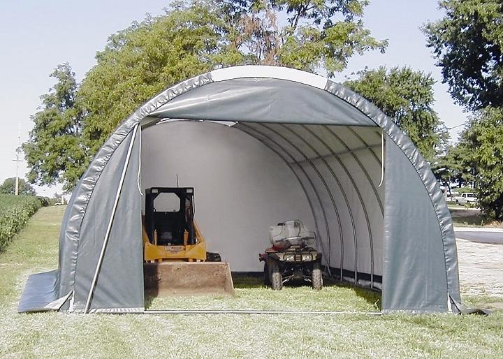 Portable Car Sheds : Order a portable garage and anchors to protect your
