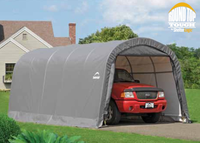 portable shelter with truck