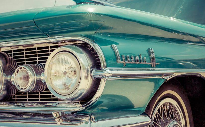 classic car blue
